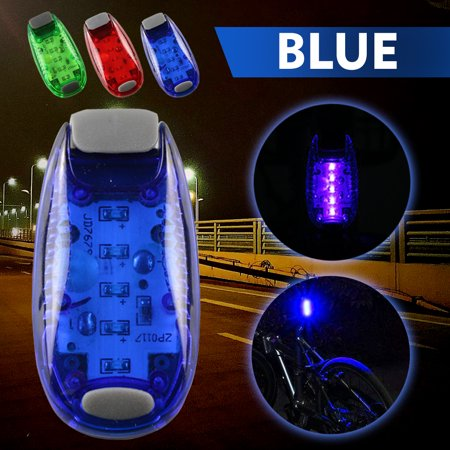 Cycling Safety Lighting Clip on Bicycle Bike Flashing Strobe Lights High Visibility,iClover LED Warning Light for Running Jogging Walking Cycling Best Reflective Gear for Kids Dogs Blue