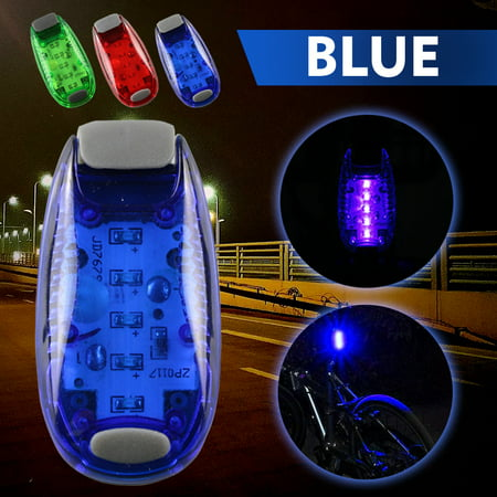 Cycling Safety Lighting Clip on Bicycle Bike Flashing Strobe Lights High Visibility,iClover LED Warning Light for Running Jogging Walking Cycling Best Reflective Gear for Kids Dogs Blue (Best Bike Light For The Money)