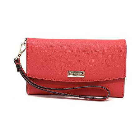- Kate Spade New York Laurel Way Saffiano Leather iPhone Wristlet, Hot Chili