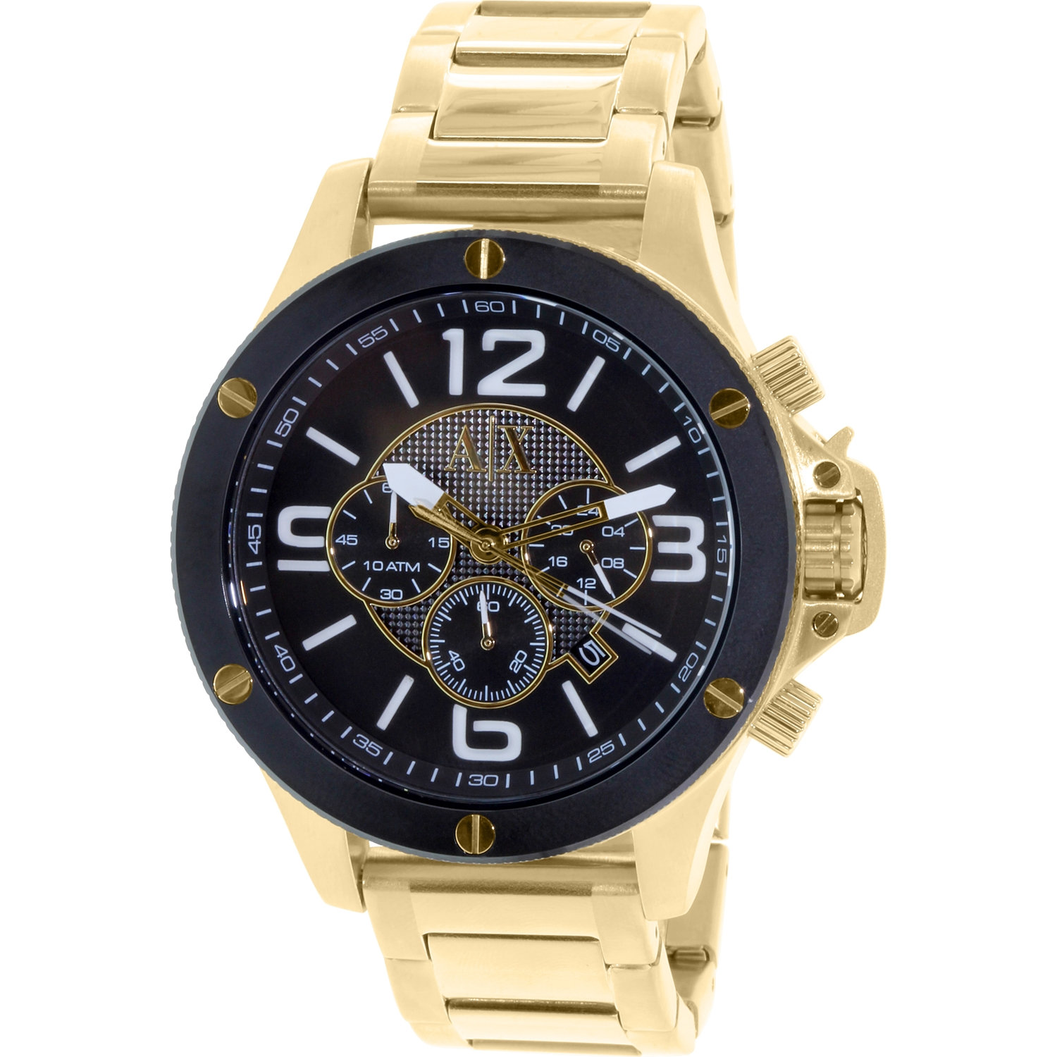 Armani Exchange Men's Street AX1511 Gold Stainless-Steel ...