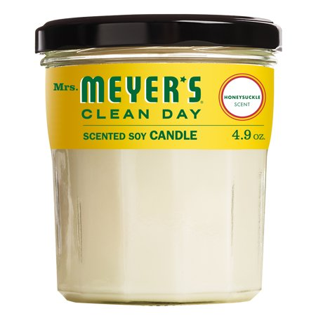 Mrs. Meyer's Clean Day Scented Soy Candle, Honeysuckle Scent, 4.9 ounce candle ()