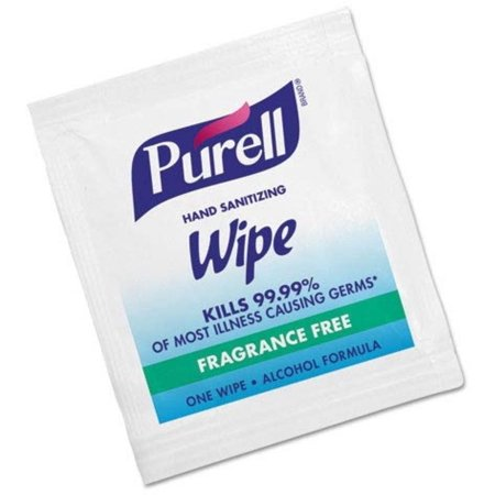 2 Pack - Purell Sanitizing Skin Wipe Individual Packet Alcohol Ethyl Alcohol Scent, 100 ea