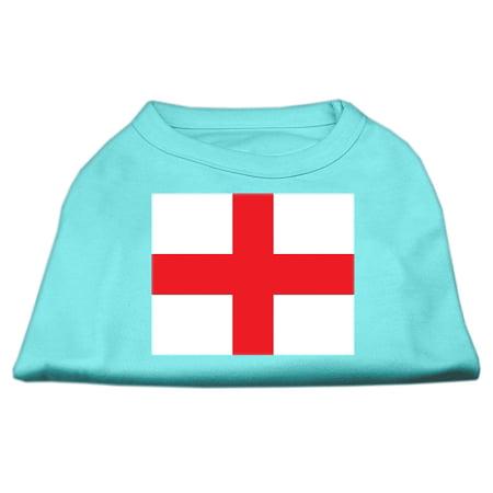 St George s Cross English Flag Screen Print Shirt Aqua Med 12