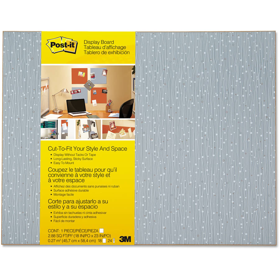 "Post-it Display Board, 18"" x 23"", Ice, Frameless"