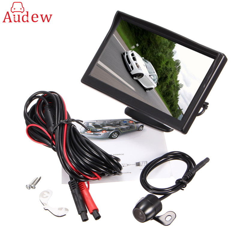 Newest 5 Inch LCD TFT Rearview Rear view Monitor Screen with 170° Night Vision