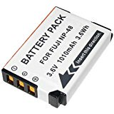 Amsahr S-NP48 Digital Replacement Battery Plus Travel Charger for Fujifilm NP-48, XQ1 - Includes Lens