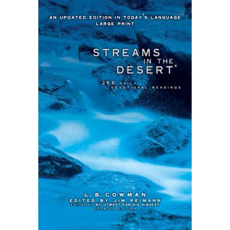 Streams in the Desert, Large Print : 366 Daily Devotional Readings (The Creatures Halloween Stream)