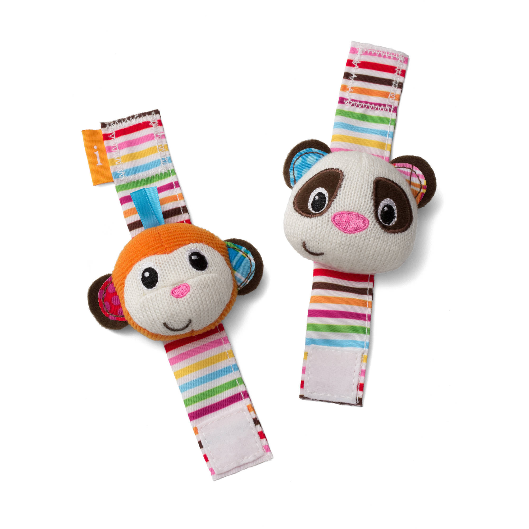 Infantino See Play Go Wrist Rattles, Monkey and Panda by Infantino