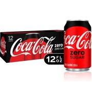 (2 Pack) Coke Zero Sugar Diet Soda Soft Drink, 12 fl oz, 12 Pack
