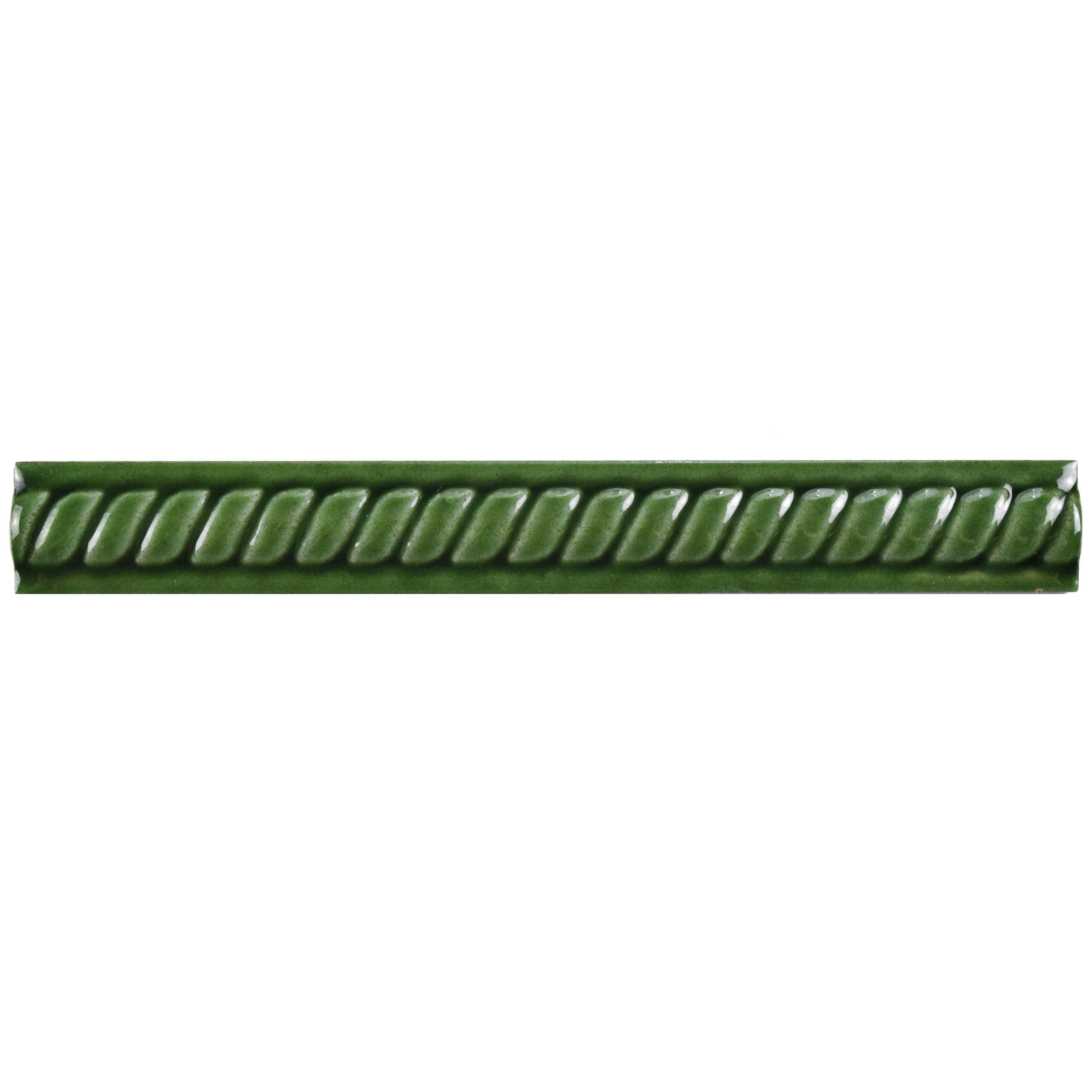 Somertile 1x7 875 Inch Trenzas Verde Moldura Pencil