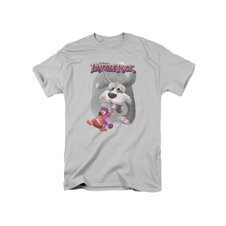 Fraggle Rock Classic TV Show Sprocket The Dog Chases Fraggle Adult T-Shirt Tee - Fraggle Rock Costume