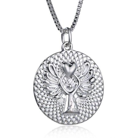 Guardian Angel Blessing Necklace Silver