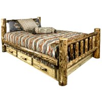 Glacier Country Collection Queen Bed w/ Storage