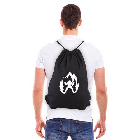 Super Saiyan Goku Dragon Ball Z Eco-friendly Draw String Bag Black & White