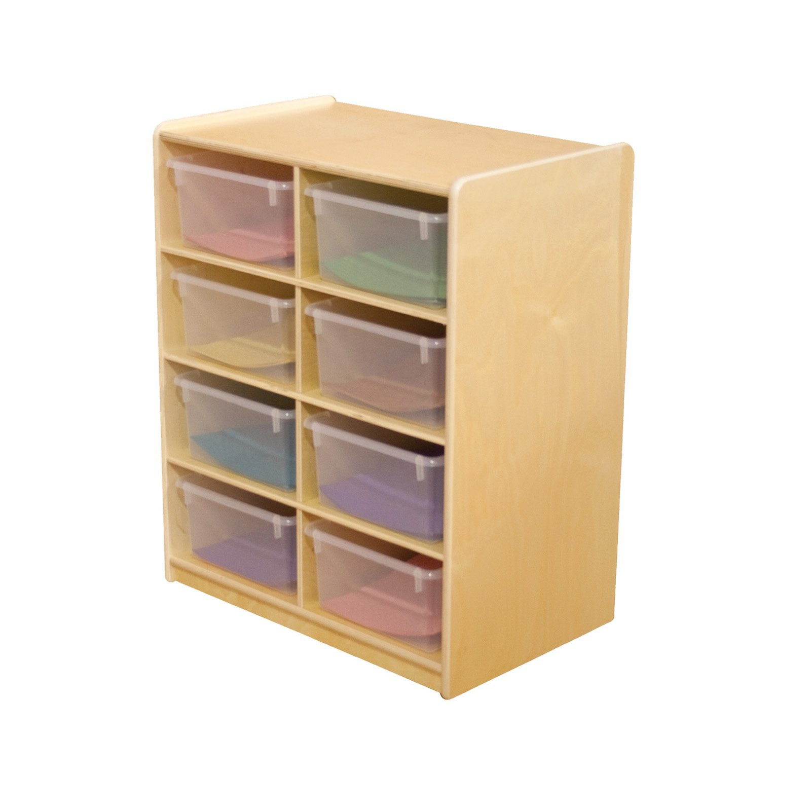 Wood Designs 8 Letter Tray Storage Unit with 5 in. Trays