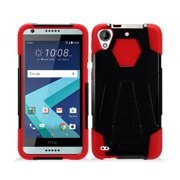 Protective Case for HTC Desire 530, Phone Case For HTC Desire 550 / 555, Hybrid Cover Case with Kickstand (Red)