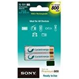 Sony NH-AAA-B4K CycleEnergy(R) Rechargeable Battery Blist...