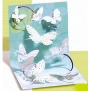 Get Well Greeting Card - Floating Butterflies Pop-Up