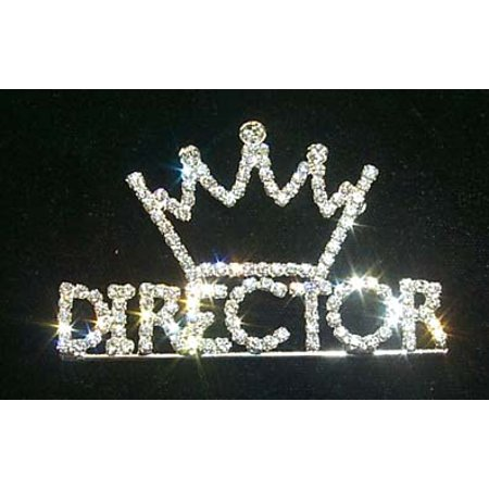 #11882 Rhinestone Director with Crown Pin