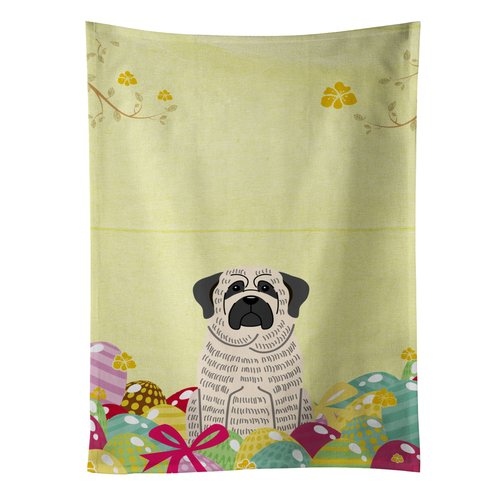 The Holiday Aisle Easter Eggs Mastiff Brindle Rectangle Dishcloth