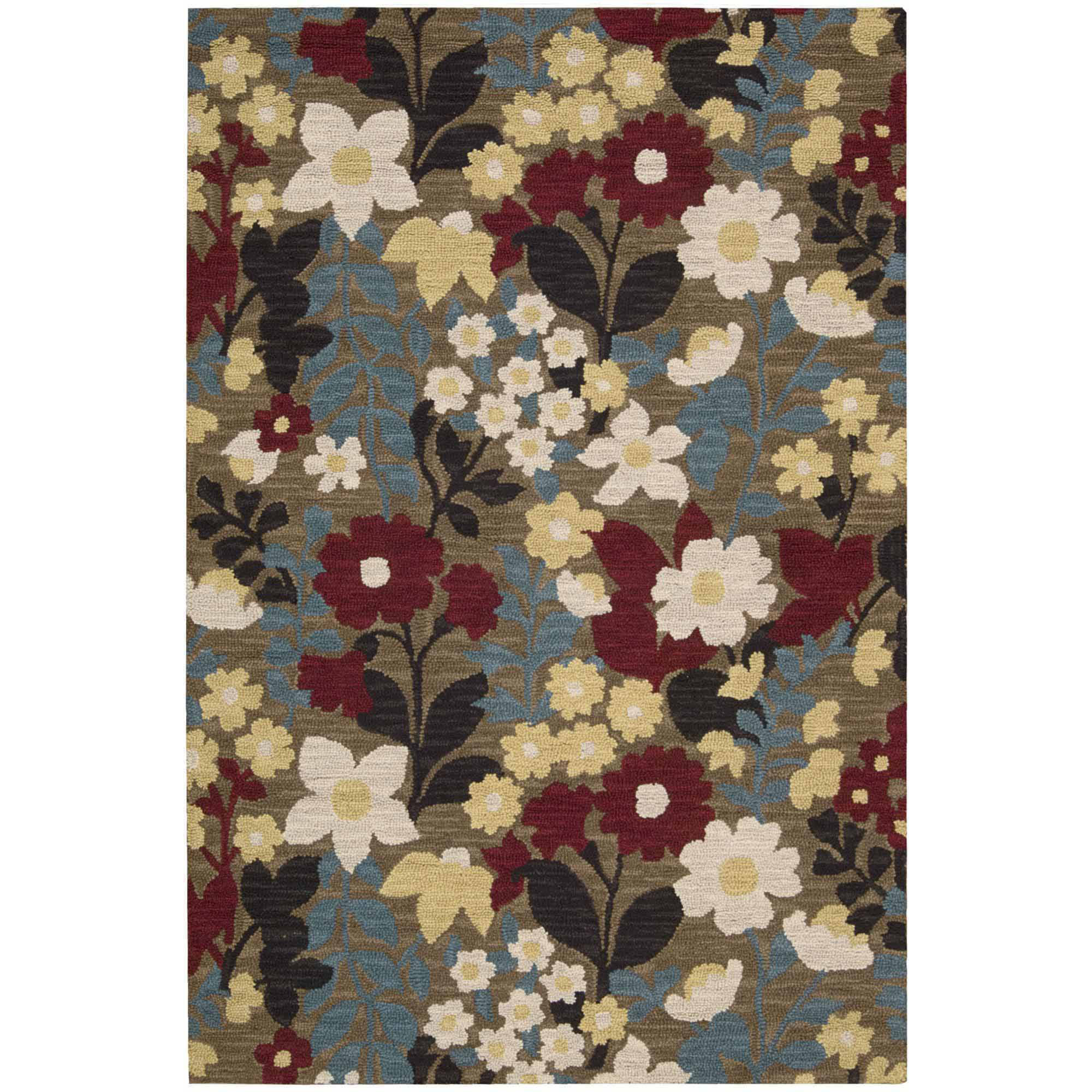 Nourison Marbella Collection Modern Folk-Art Area Rug
