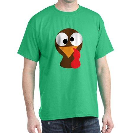 744d5125 CafePress - Funny Turkey Thanksgiving Face Dark T Shirt - 100% Cotton T- Shirt