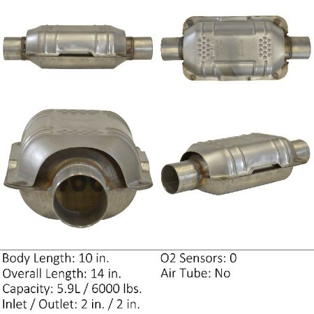 OE Replacement for 1995-1998 Nissan 240SX Rear Catalytic Converter (Base / LE / SE)