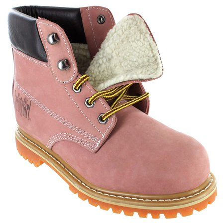 7f6c12bcddc Safety Girl II Sheepskin Lined Womens Work Boots - Light Pink - Soft Toe -  9.5W