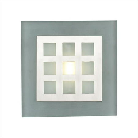 PLC Lighting 2316 SN Wall Sconces 1 Light Halogen 120V 100W in Satin
