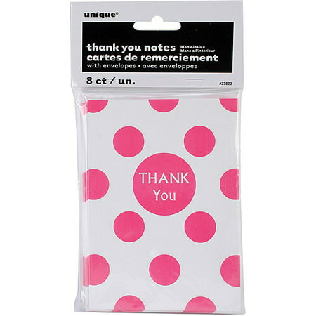 Polka Dot Thank You Cards, 8-Pack