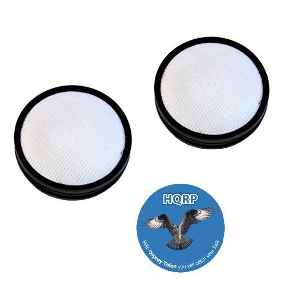 HQRP 2- Pack Washable Pre-Motor Filter for Dirt Devil UD70300B Lift & Go Vacuum Cleaner plus HQRP Coaster
