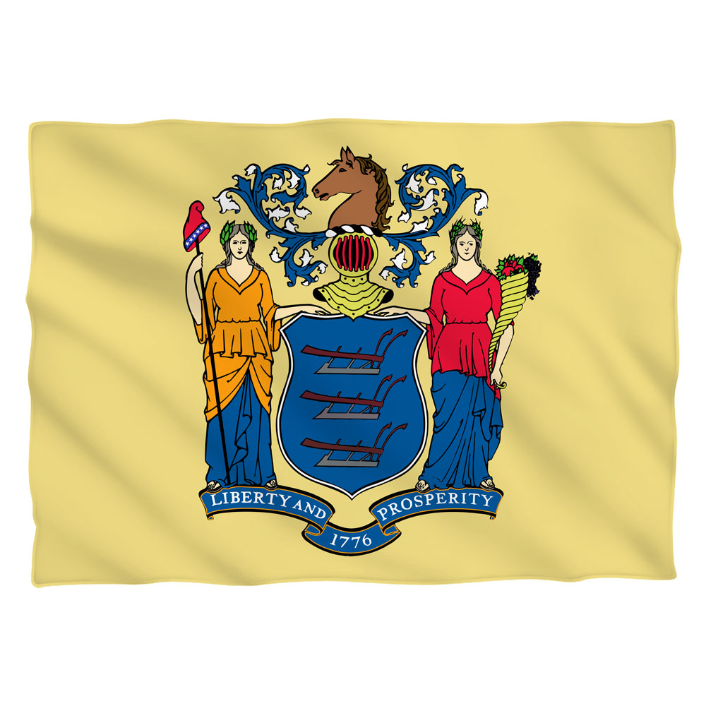 New Jersey Flag (Front Back Print) Pillow Case