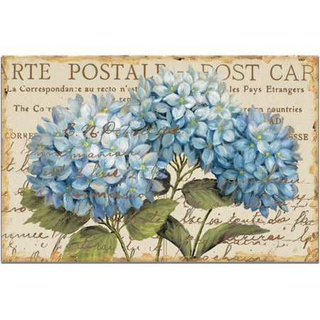 Counter Art Paper Placemats 24-Pack, Blue Hydrangea