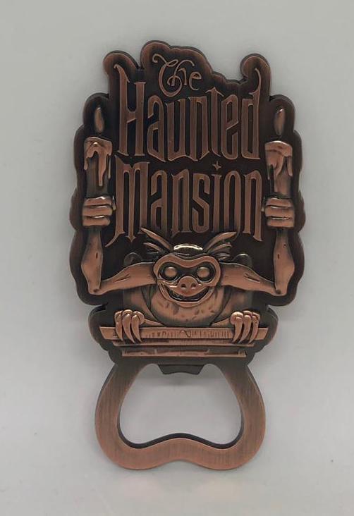 Disney Parks Haunted Mansion 50th Gargoyle Candelabra Bottle Opener Magnet Metal
