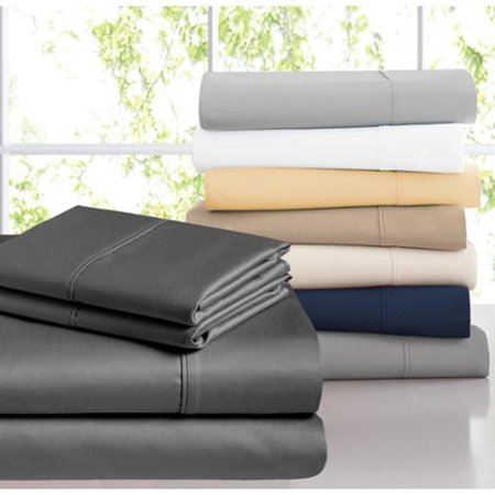 Casa Platino 1200 Thread Count Egyptian Cotton Blend Sheet Set Queen White