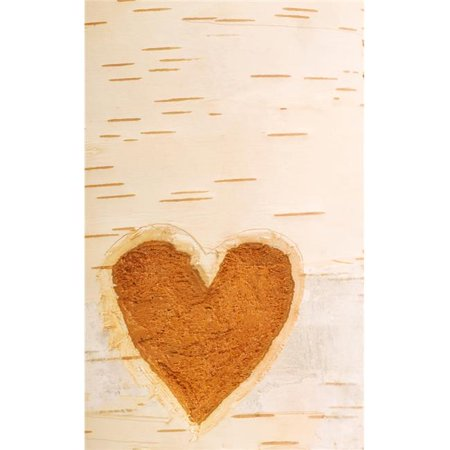 Posterazzi DPI1829948LARGE Heart Shape Carved in Bark of Tree Poster Print by Chris & Kate Knorr, 24 x 38 - Large - image 1 of 1