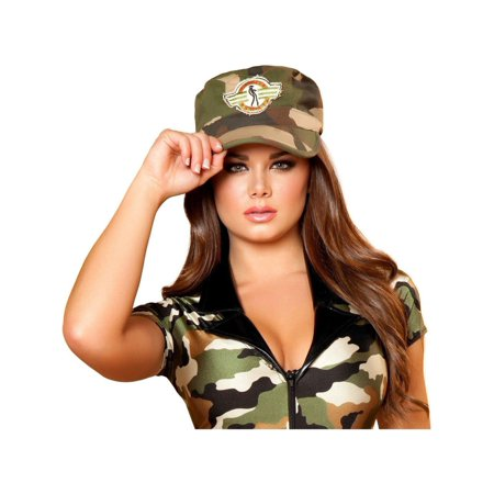 Roma Costume Halloween Parties Womens Army Hat Camouflage - One Size - Party Halloween 2017 Roma