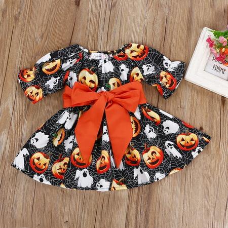 Renaissance Festival Clothing (Hot Toddler Baby Kids Girls Pumpkin Festival Halloween Party Dress Clothes)