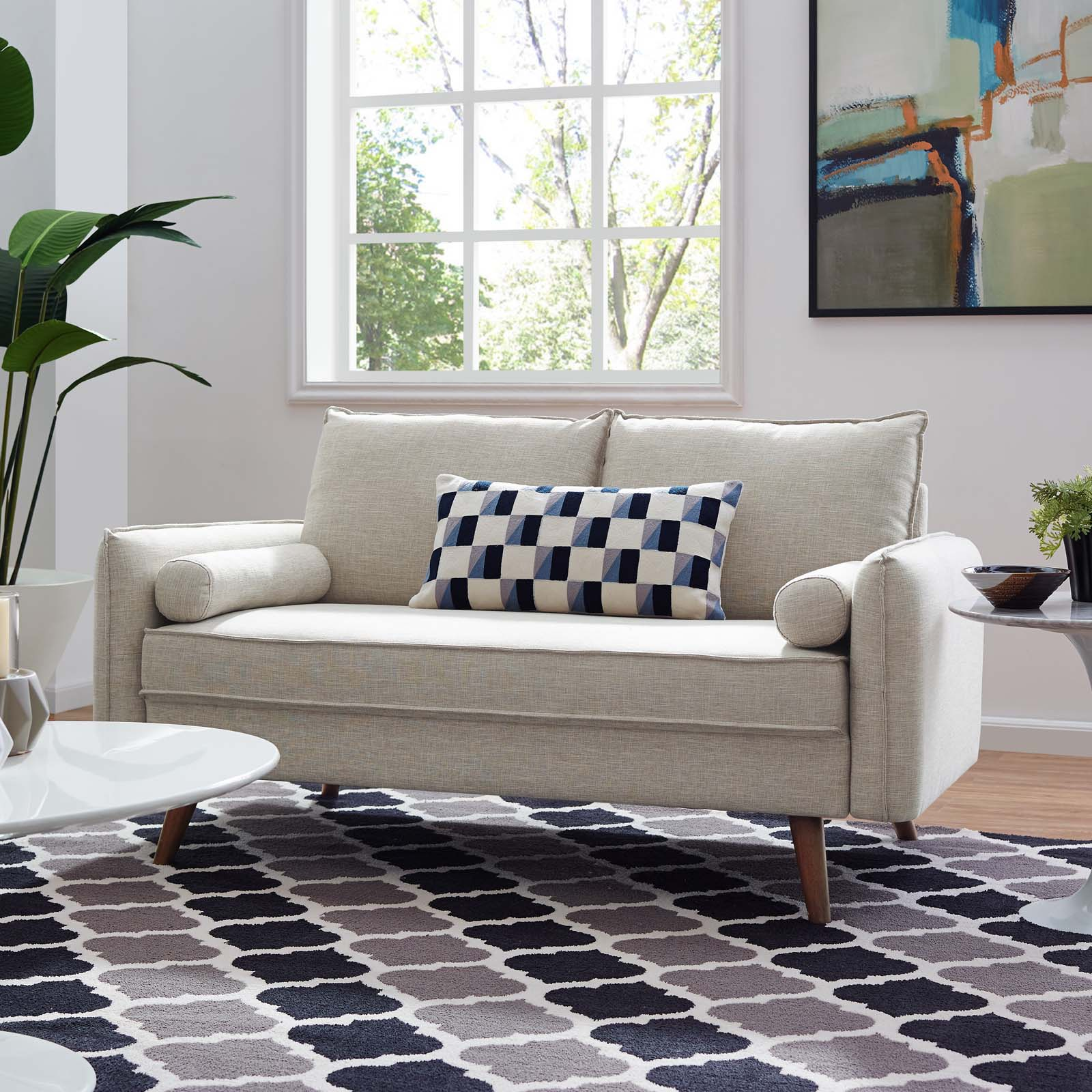 Modway Revive Fabric Upholstered Loveseat, Multiple Colors