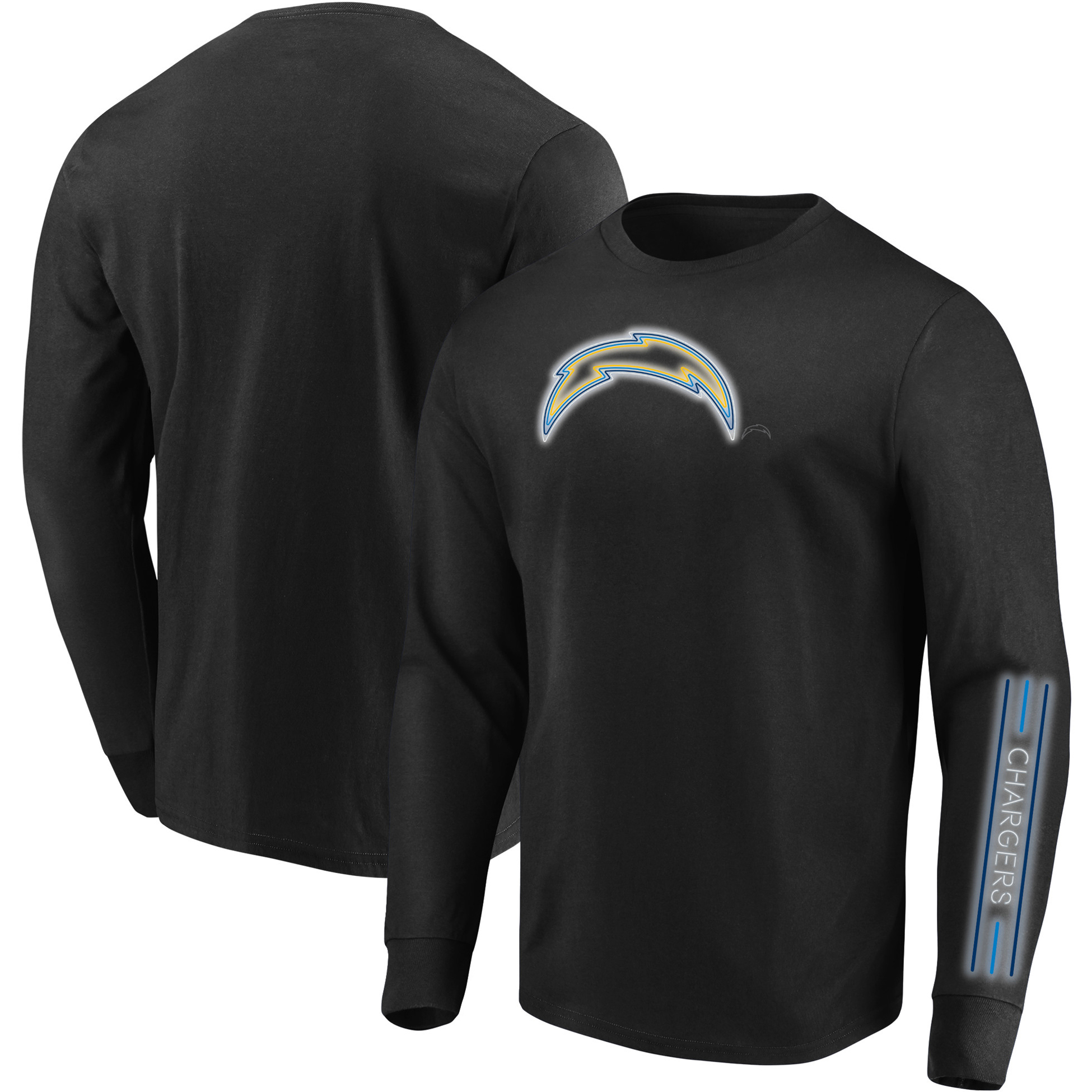 Los Angeles Chargers Majestic Startling Success Long Sleeve T-Shirt - Black
