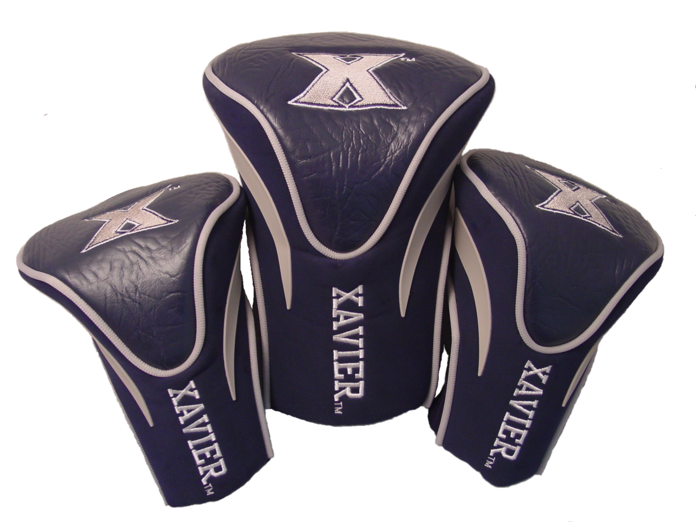 Team Golf NCAA Golf Headcovers, Xavier (Pack of 3) by Team Golf
