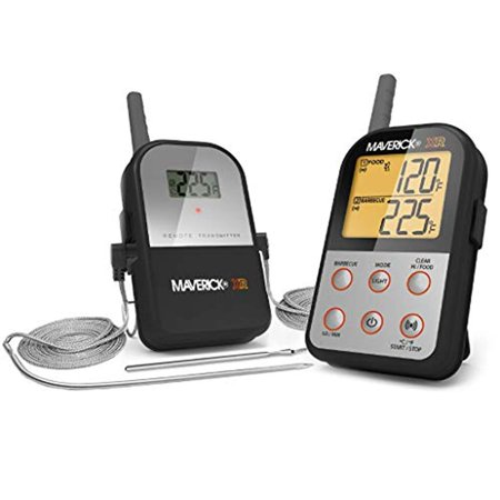 Monitoring Probe (Maverick Remote Extended Range Thermometer with New Insta-SYNC Technology – Wireless BBQ Meat Thermometer for Remote Monitoring Up to 500 Ft – Receiver, Transmitter & Food Probe for Grill, Oven)