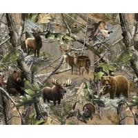 Realtree Animal Fabric, per Yard