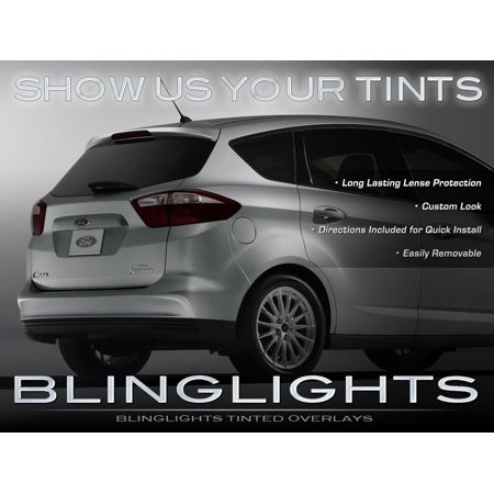 Ford C Max Tinted Tail Lamps Lights Overlays Kit Smoked Protection Film