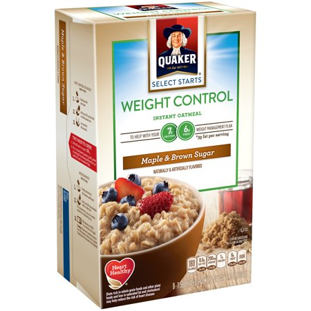 Quaker ® Select Starts Weight Control Maple & Brown Sugar Instant Oatmeal 8-1.58 oz. Packet