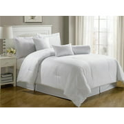 Chezmoi Collection Lex 7-Piece Hotel Dobby Stripe Comforter Set
