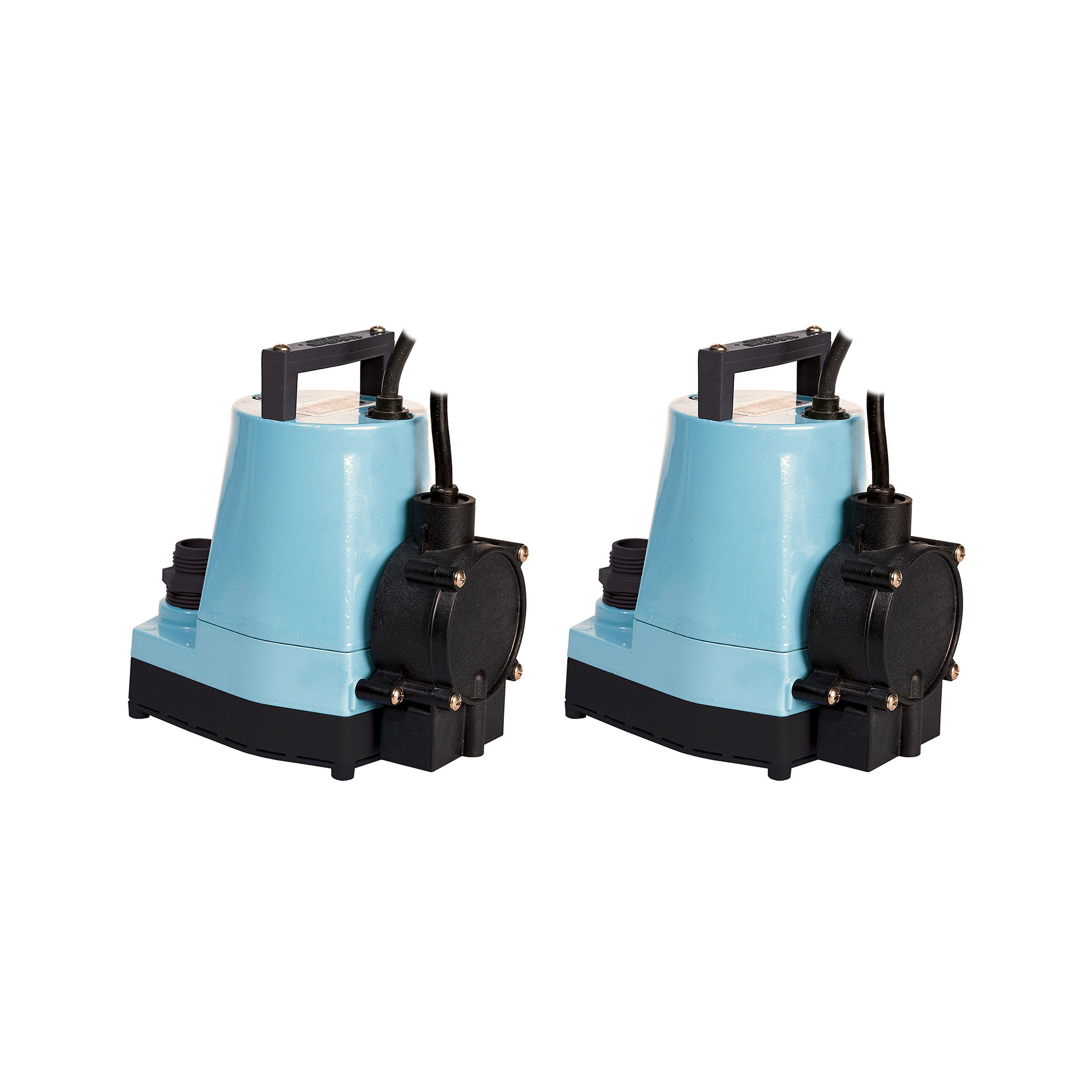 Little Giant 1/6 HP 1200 GPH Water Wizard Submersible Utility Pump (2 Pack)