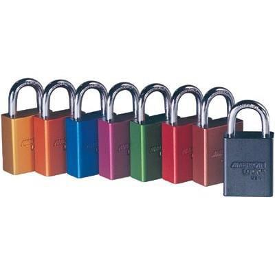 Green Safety Lock-Out Padlock Aluminum Bo