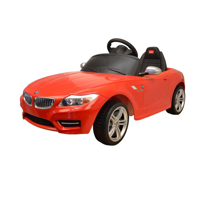 BMW Z4 Kids 6v Electric Ride On Toy Car w/ Parent Remote Control - Red