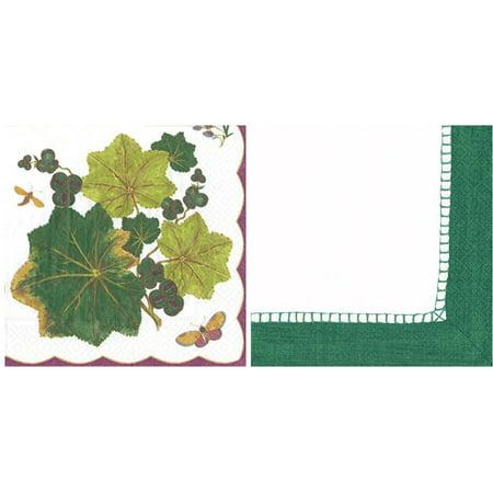 Caspari Chelsea & Emerald Linen Paper Luncheon Napkins 2x(20 Pack)